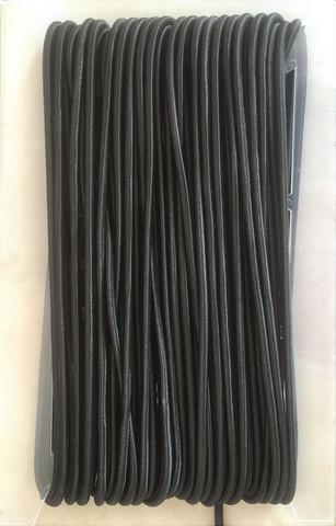 Musta pyöreä kuminauha, halkaija 5 mm
