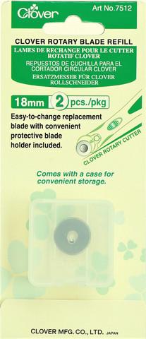 Varaterät Clover 18 mm kangasleikkuriin, 2 kpl