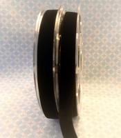 Musta joustava samettinauha, 16 mm