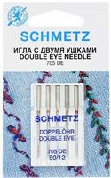 Schmetz kaksisilmäinen neula, koko 80, 5 kpl