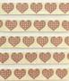 Sydänkuvioinen koristenauha, leveys 16 mm