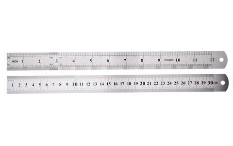 Metalliviivain 30 cm