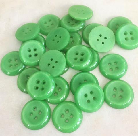 Vihreä nappi, 22 mm