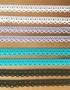 Kapea puuvillapitsi, leveys 13 mm, 4 väriä