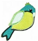 Vihreänsävyinen lintu-koristekuvio