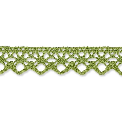 Vihreä puuvillapitsi, leveys 13 mm