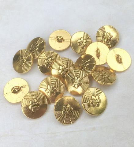 Kullanvärinen metallinappi, 15 mm