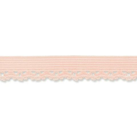 Vaalea roosa joustava reunapitsi, 11 mm