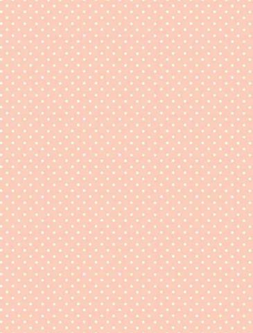 Vaaleanpunainen valkopilkullinen puuvillakangas