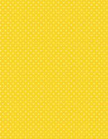 Keltainen valkopilkullinen puuvillakangas