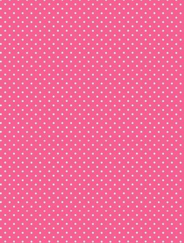 Pinkki valkopilkullinen puuvillakangas