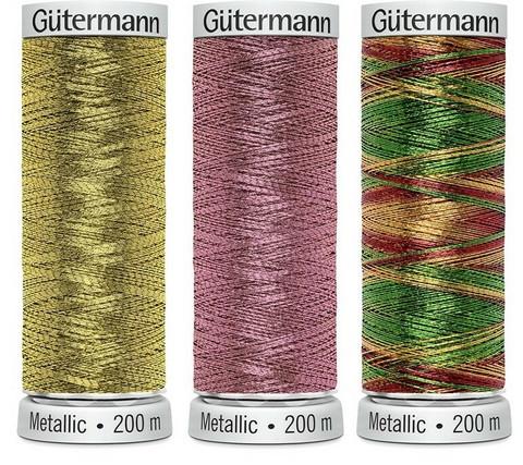 Gütermann Metalliompelulanka, 26 väriä