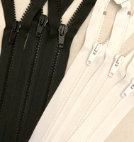 Avovetoketju, hammasketju 100 cm, musta ja valkoinen