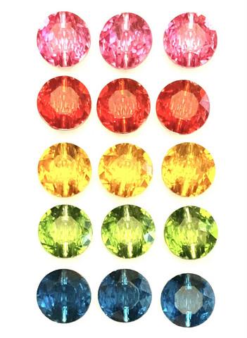 Kimaltava nappi, 12 mm, viisi väriä