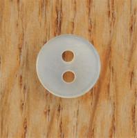 Luonnonvalkoinen paidannappi, 9 mm