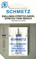 Kaksoisneula Stretch 4,0 mm, koko 75, 1 kpl