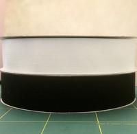 Kuminauha, leveys 40 mm, musta ja valkoinen