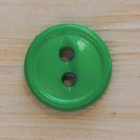 Kirkkaanvihreä pieni nappi, 11 mm