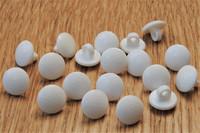 Valkoinen kantanappi, kuviollinen, 11 mm
