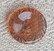 Ruskea läpinäkyvä nappi, 15 mm