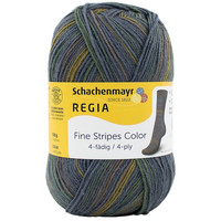 Regia Fine Stripes Color 4-ply, 100g