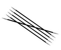 KnitPro Karbonz sukkapuikot 20cm, koot 3 ja 4