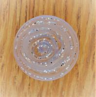 Läpikuultava kimallenappi, 15 mm