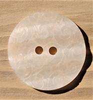 Luonnonvalkoinen koristeellinen nappi, 28 mm