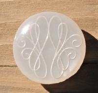 Valkoinen kantanappi, 15 mm