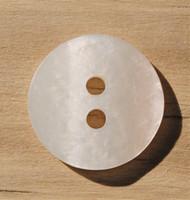 Luonnonvalkoinen nappi, 15 mm