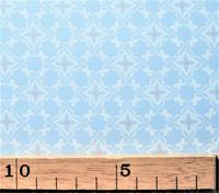 Vaaleansininen pienikuviollinen puuvillakangas