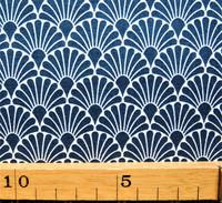 Tummansininen viuhkakuvioinen puuvillakangas