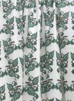 Valko-vihreä lehtikuviollinen interlock-neulos 100% luomupuuvillaa
