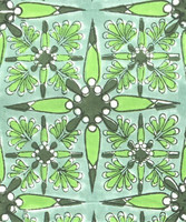 Vihreäkuvioinen interlock-neulos 100% luomupuuvillaa