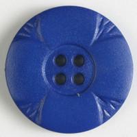 Sininen kukkakuvioinen nappi, 23 mm