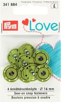Prym Love ommeltavat nepparit, 16 mm, neljä väriä