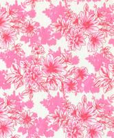 Vaaleanpuna-valkoinen kukkakuvioinen luomupuuvillatrikoo