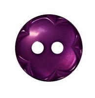 Violetti kukkareunainen nappi, 13 mm