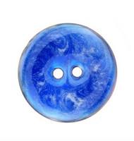 Sininen lasitettu helmiäisnappi, 20 mm