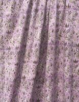 Violetti kuviollinen interlock-neulos 100% luomupuuvillaa