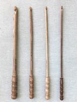 Koristeellinen virkkuukoukku surinapuuta, koot 3-4-5-10