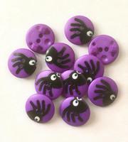 Violetti hämähäkki nappi, 15 mm