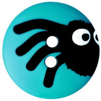 Turkoosi hämähäkki nappi, 15 mm