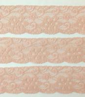 Vanha roosa joustava pitsi, 50 mm