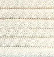 Valkoinen puuvillapitsi, leveys 17 mm