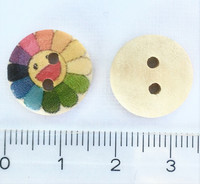 Sateenkaarikukka puunappi, 15 mm