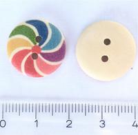 Sateenkaarihyrrä puunappi, 17 mm