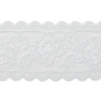 Valkoinen joustava pitsi, 58 mm