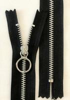 Metallirengasketju, 4 mm, 15 cm, musta