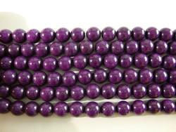 Jade värjätty tumma lila/violetti pyöreä 8 mm (30 kpl/pss)